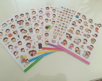 Momoi Stickers (6 sheets) Version 2