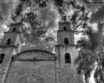 Photograph of a Spanish Colonial Church of the Third Order, Iglesia de la Tercera Orden, Merida, Yucatan, Mexico 201500071
