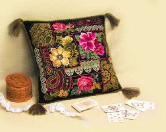 "Cross Stitch Kit by Riolis ""The pillow on the motives of Pavlovian shawls"""