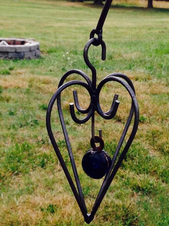Mali Heart, yard art, garden decor, metal sculpture, patio