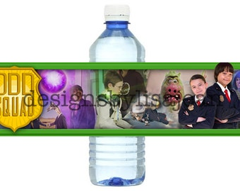 Odd Squad Water Bottle Label