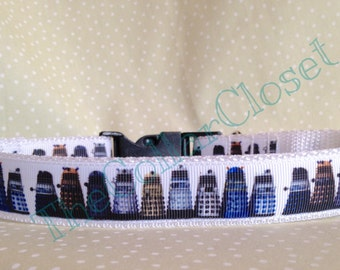 Dr Who Dalek Design Unofficial Dog Collar