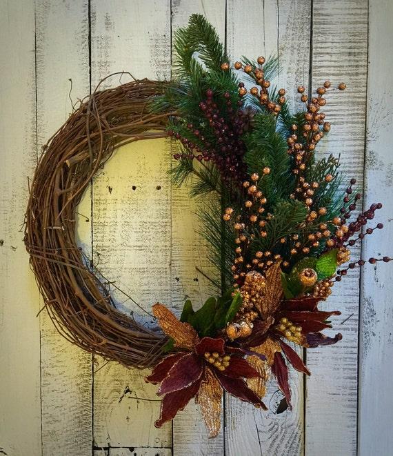 Christmas wreath gold bronze