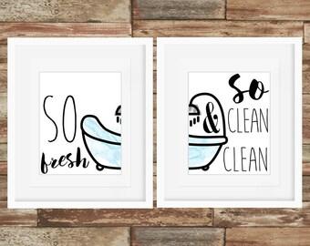 So Fresh and So Clean Clean - 2 Piece - Art Prints