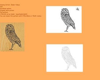 Owl Scrollsaw Pattern