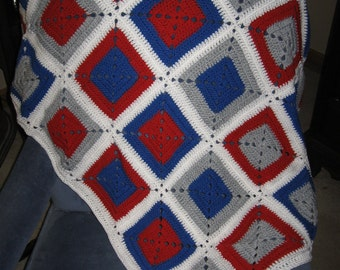 Crocheted Baby Afghan Granny Square