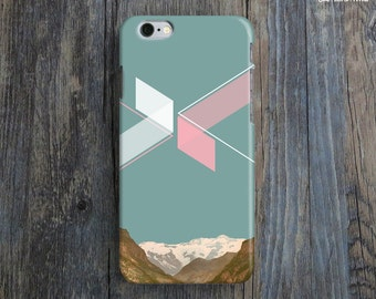 GEOMETRIC ART iPhone 6 Case. Modern Art iPhone 6 Plus Case. Retro iPhone 6 Case. Photography iPhone Case. Turquoise iPhone Cover. Teal iP6.