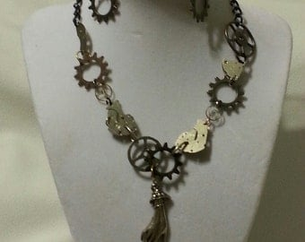Times on Yourside Steampunk Necklace and Earrings Sets
