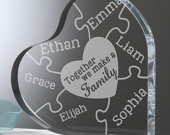 Together We Make A Family Personalized Heart Puzzle Keepsake