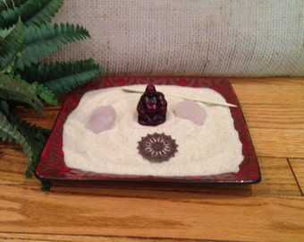 BUDDHA PLATE Miniature Zen Garden