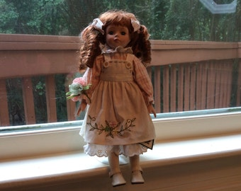 "Beautiful Red Haired  ""COLLECTIONS, INC.""  Porcelain Collectible Doll  12"""