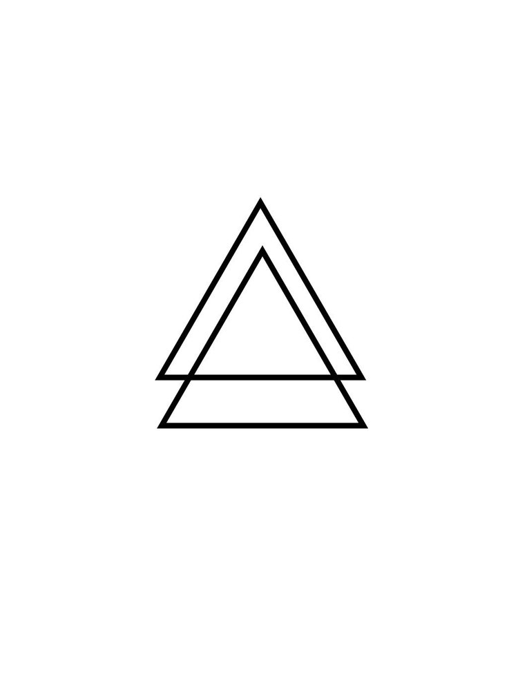 2 glyph triangle temporary tattoo various sizes by tabootattoo