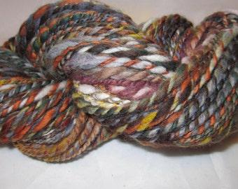 Dark Multicolor Merino Handspun Yarn