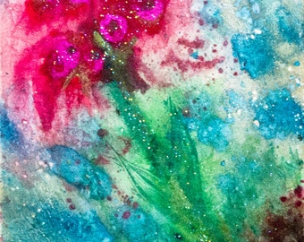 """Intergalactic Flower 8""""x10"""" Abstract Print"""