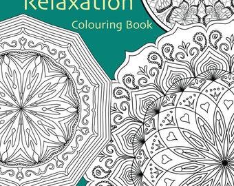 Adult Colouring In PDF Download Zen Mandalas Garden Anti