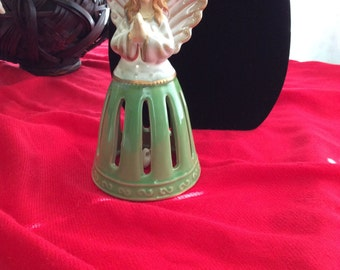 Angel Bell with Green Skirt, Vintage Angel Bell
