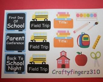 Erin Condren School Themed Planner Stickers