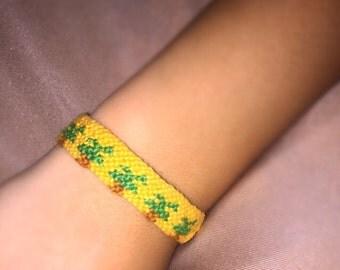 Palm Tree- Adjustable Friendship Bracelet