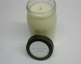 16oz Handmade soy candle vanilla bean 10% donated