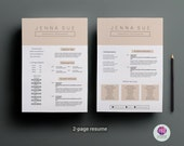 2-page CV template , cover letter template ( pastel color theme ) / professional CV / modern resume