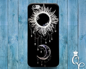 iPhone 4 4s 5 5s 5c SE 6 6s plus + iPod Touch 4th 5th 6th Generation Cute Sun Moon Black White Jewelery Cool Cover Beautiful Fun Phone Cover