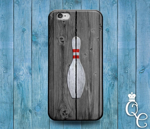 iPhone 4 4s 5 5s 5c SE 6 6s 7 plus iPod Touch 4th 5th 6th Generation Cute Wood Custom Phone Case Bowling Pin Bowl Ball Grey Sport Cover
