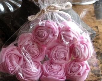 Handmade Pink Fabric Roses