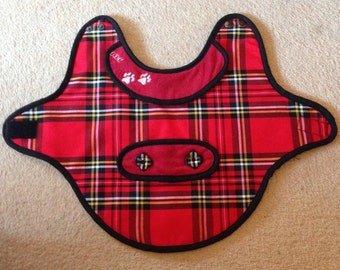 Handmade in Scotland. Royal Stewart Tartan Dog Coat. Small