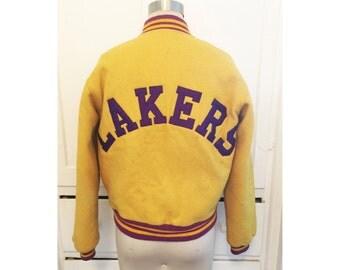 LAKERS Wool Bomber Jacket