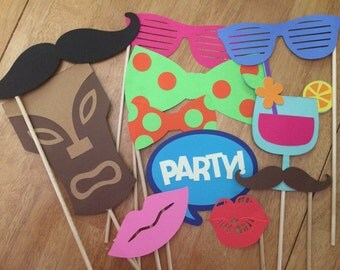 Luau photo booth props! 11 piece set!