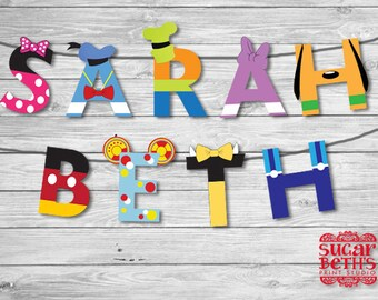 Mickey Mouse Clubhouse Printable Character Letters Banner