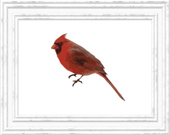 Cardinal Print, Cardinal Wall Art, Cardinal Printable, Digital Cardinal Printable, Printable Cardinal Art, Digital Download Print, Bird