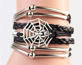 black spider bracelet