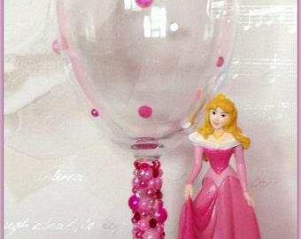 Disney Aurora Wine Glass