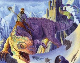 Mountain Pass fantasy illustration print