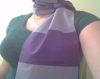 Light and Dark Purple Striped Cosplay Scarf
