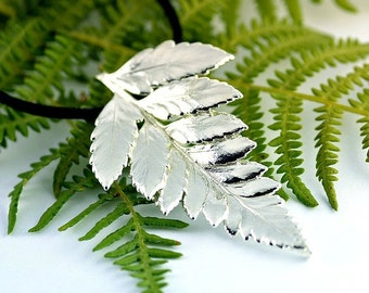 real fern silver pendant, fern pendant, real fern pendant, real fern, real leaf pendant, fern silver plated, leaf pendant