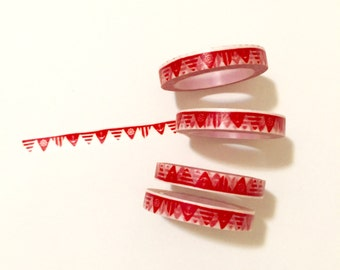 Red Flags Washi Tape