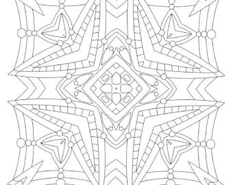 snowflake - Mandala Snowflakes Coloring Pages
