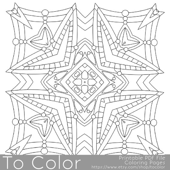 square mandala coloring pages - photo#9