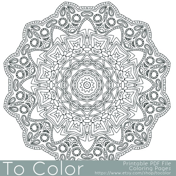 items similar to intricate printable coloring pages for adults gel pens mandala pattern pdf
