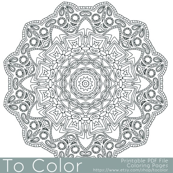 Items Similar To Intricate Printable Coloring Pages For