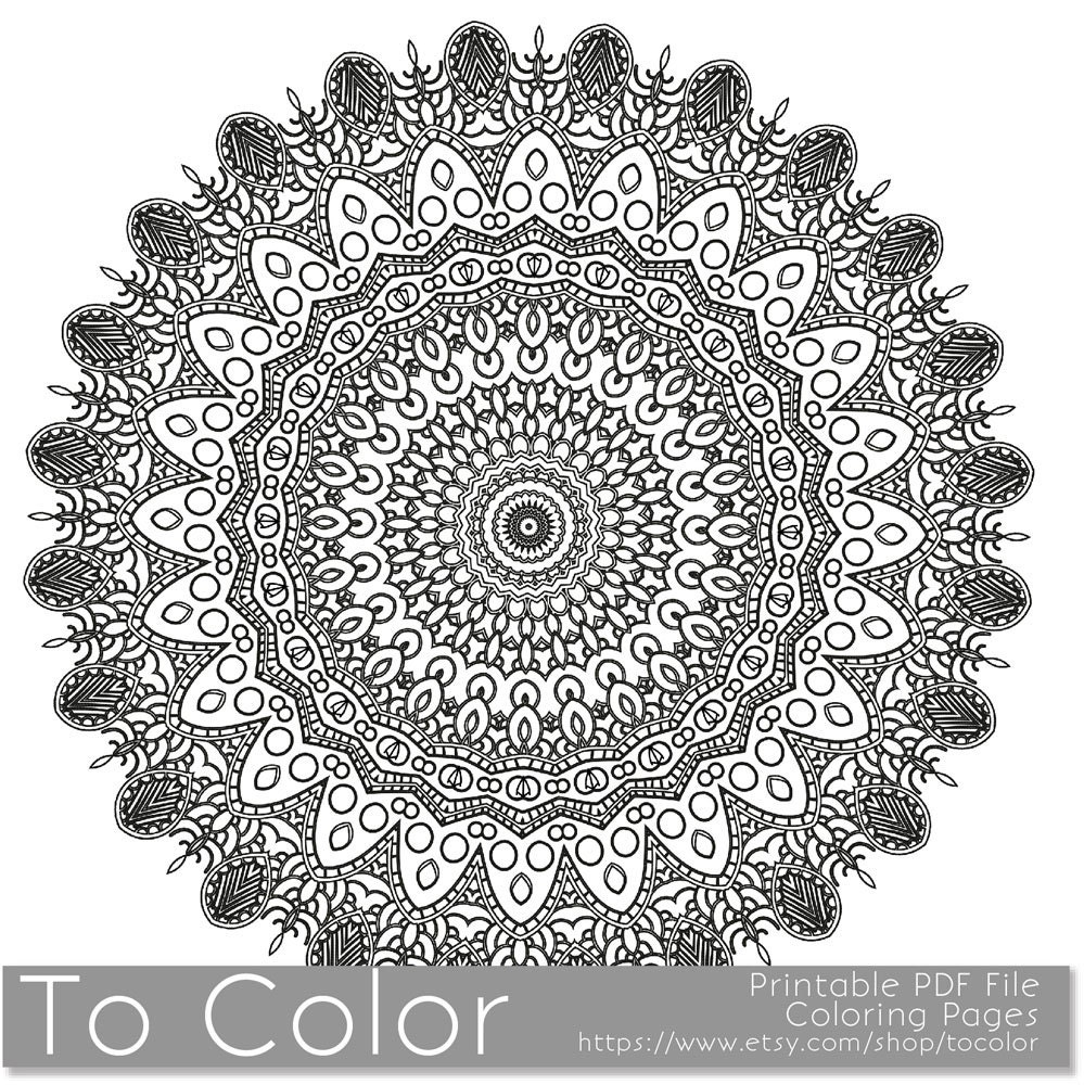 Coloring Sheet Mandala Pattern Intricate Printable By Tocolor Intricate Princess Coloring Pages Free Coloring Sheets