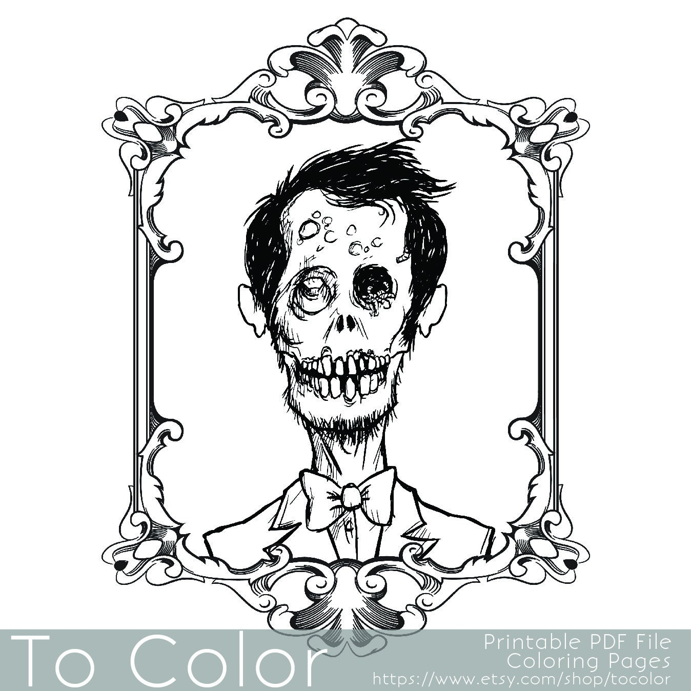 Zombie Coloring Pages Pdf : Kitchen dining
