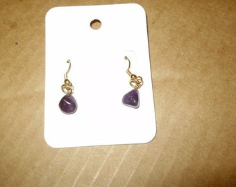 "Beautiful Amethyst ""Nugget"" Earrings Style2"
