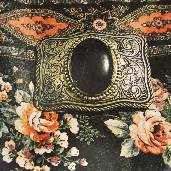 SALE // Silver Black Magic Gypsy Belt Buckle