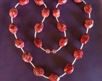 Rose Jasper beaded necklace