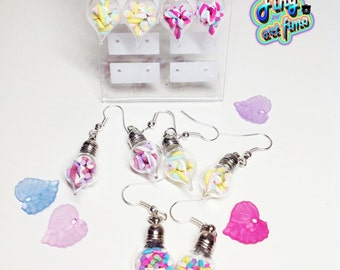 mini bottle earrings