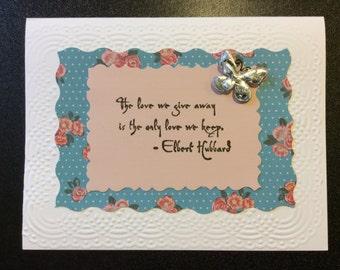 Homemade card - Love/Friendship