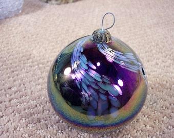 Hand Blown Glass Ball Christmas Ornament